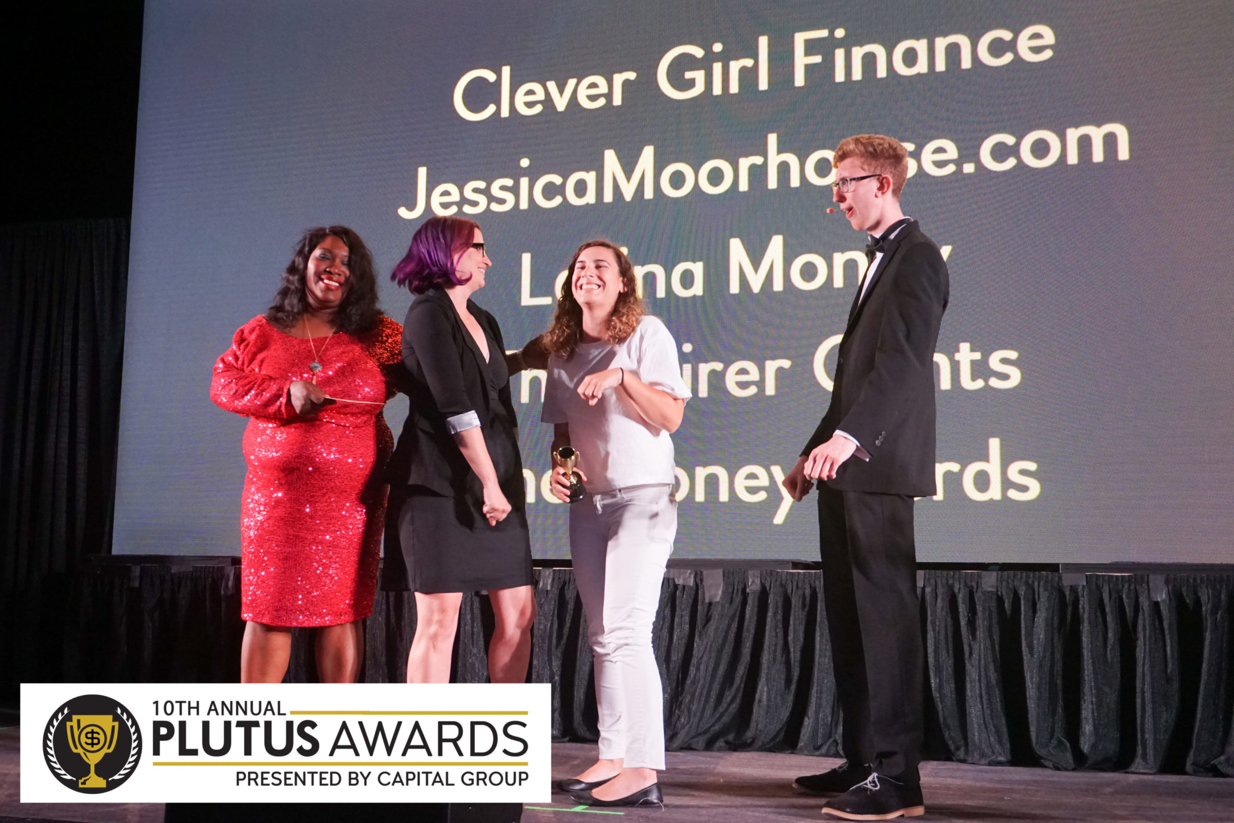 On Stage with the Plutus Awards